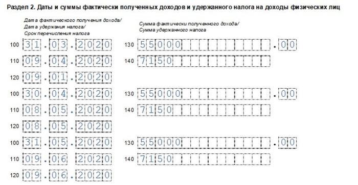 Как правильно отразить аванс в 6-НДФЛ - пример заполнения расчета